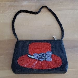Red Hat Society Beaded Purse